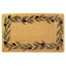 nedia home evergreen plain 22 in x 36 in coir door mat