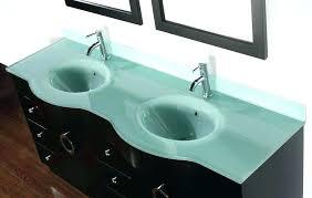 vanity top 6 tempered glass kokols double tops tempered glass vanity top with integrated sink vanities reviews wi