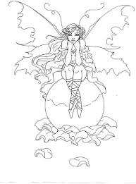 Amy Rose Far View Coloring Page Brown Fairy Book Myth Mythical