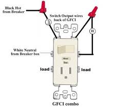 switch receptacle combo wiring wiring diagrams best wiring leviton switch gfi outlet combo doityourself com community light switch outlet wiring diagram gfci