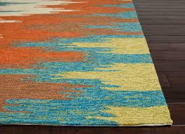 plush turquoise and orange area rug 21