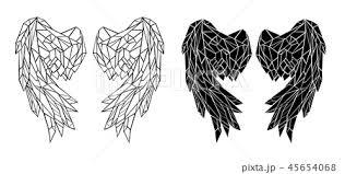 Polygonal Folded Wingsのイラスト素材 45654068 Pixta