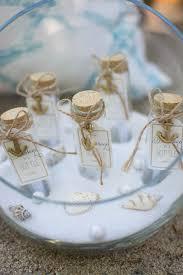 message in a bottle favors beach bridal shower