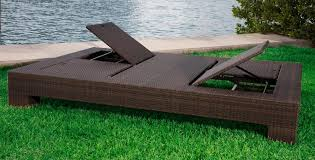 source outdoor king wicker double chaise lounge