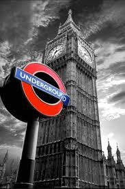 london underground big ben wall art