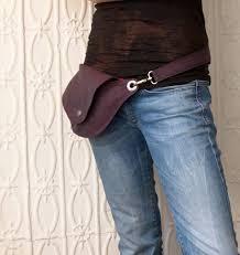 purple belt bag hip bag pack by rocksandsalt on 64 00