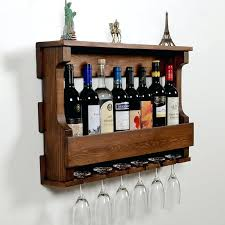 wine racks wine rack glass holder hangover dark hazelnut iohomes venire wall mounted and walnut