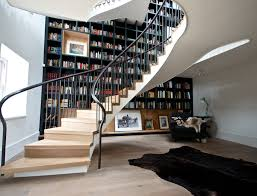 stair bookcase furniture. View In Gallery Swirling Bookcase Stairwell Stair Furniture L