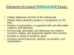 the california writing exam grades and ppt video online elements of a good persuasive essay