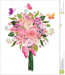 spring flower bouquet on white background stock vector