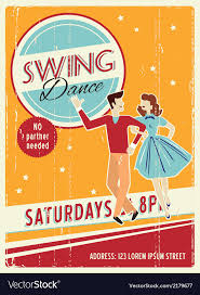 Sample Party Invite Retro Party Invitation Design With Sample Text Vector Image