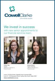 Cowell Clarke Expands Financial Services Law Team • Cowell Clarke  Commercial Lawyers