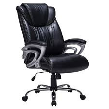 contemporary leather high office chair black. Full Size Of Tables \u0026 Chairs, Ergonomic High Back Bonded Leather Office Chair Double Padded Contemporary Black P