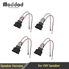 aliexpress com buy for vw seat passat golf polo radio stereo cd speaker harness nissan at Speaker Wire Harness Adapter
