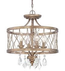 gianna mini chandelier west liberty 4 light gold semi flush s bob
