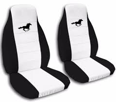 front and rear 2003 ford mustang gt seat covers black and white 700987458732