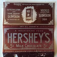 hershey candy bar wrapper vintage 1930s hersheys milk chocolate candy bar wrapper the full