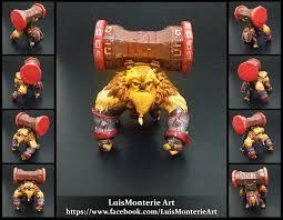 dota 2 earthshaker figurine action figure by luismonterieart on
