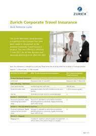 zurich corporate travel insurance