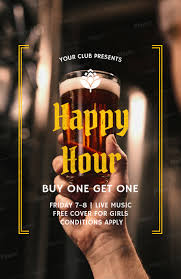 Happy Hour Flyer Online Flyer Maker For Happy Hour Flyers A173