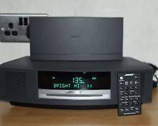 bose radio. bose wave music system model awrcc5 cd player/radio/alarm \u0026 separate ipod dock radio