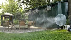 About Mist Cooling Outdoor Areas  Cloudburst Misting Systems IncBackyard Misting Systems