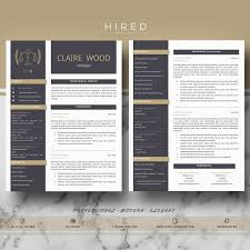Legal Resume Template For Ms Word Claire Hired Design Studio