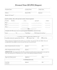 Free Time Off Request Form Template For Work Holiday Benvickers Co