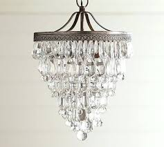 crystal drop small round chandelier pottery barn shades