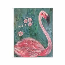 flamingo painting original canvas