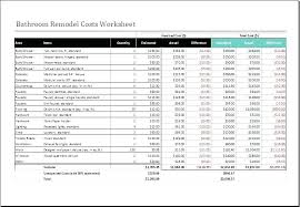 Home Remodeling Cost Estimate Template Home Remodeling Cost Estimate