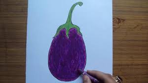 How To Draw A Eggplant Or Baingan