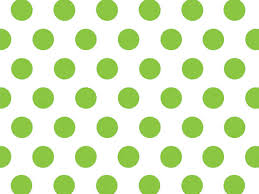 citrus green dots tissue paper half