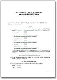 Meeting Minute Forms Board Meeting Minutes Template 8 Free
