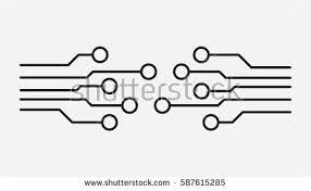 electronic circuit symbol vectors vector art stock circuit board icon technology scheme symbol flat vector illustration on white background