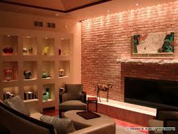 Basement Lighting Design Mesmerizing Recessed And Track Lighting Accent The Collection Of Art As Well As