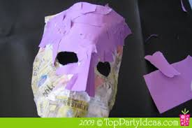 Card Masks To Decorate Mardi Gras Paper Mache Mask Top Party Ideas 92