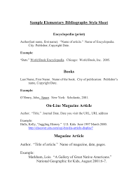 A Sample Elementary Bibliography Style Sheet