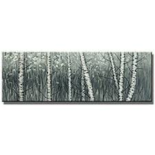 >amazon wieco art the birch forest canvas prints wall art grey  wieco art the birch forest canvas prints wall art grey trees oil paintings reproduction pictures living