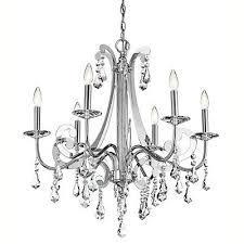 kichler lighting 42545ch leanora 6 light 28 inch chrome chandelier ceiling light