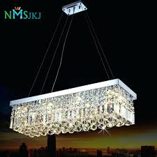 rectangular crystal chandelier modern luxury re for dining room lamp bedroom foyer lighting fixtu rectangular crystal chandelier