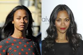 black actresses with and without zoe saldana