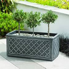 Image of Stewart Lead Effect Trough Planter - 70cm