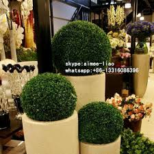 Decorative Boxwood Balls Q100 Artificial Topiary Tree Evergreen Boxwood Ball Making 54
