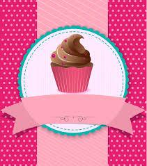 Vintage Cupcake Background Vector Premium Download