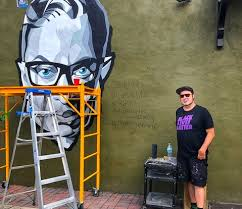6,204 transparent png illustrations and cipart matching mural. Andrew Spear Painted An Rbg Tribute Mural In Thornton Park Bungalower