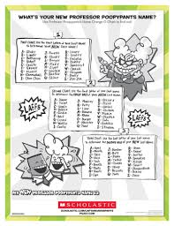Professor Poopypants Name Worksheets Printables