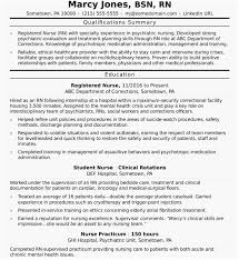 Best Nurse Resume Professional Summary For Nurse Resume For Every Single