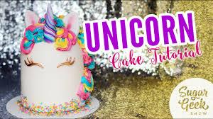 Unicorn Cake Tutorial Youtube