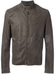drome band collar jacket olive khaki men clothing leather jackets drome for new york